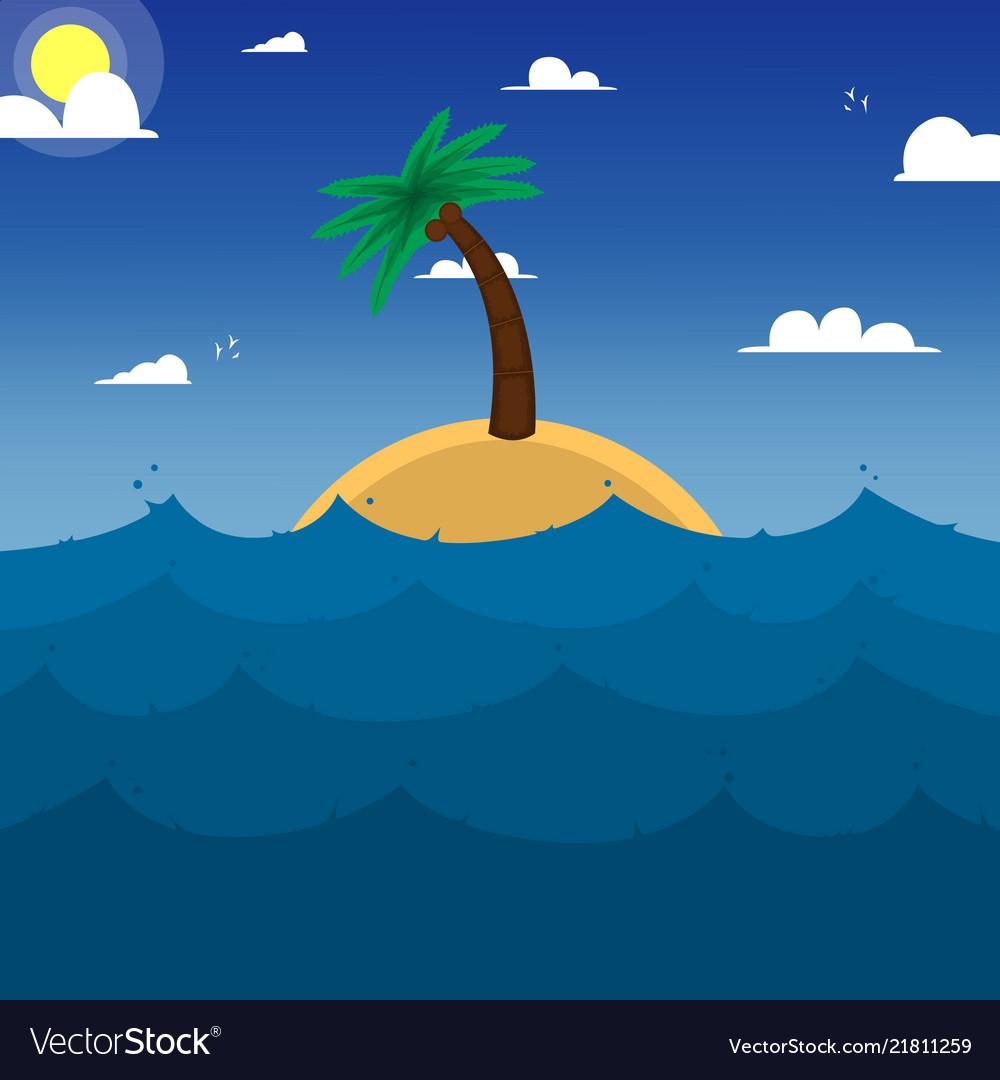 Island in oceanpalm treeocean weaves