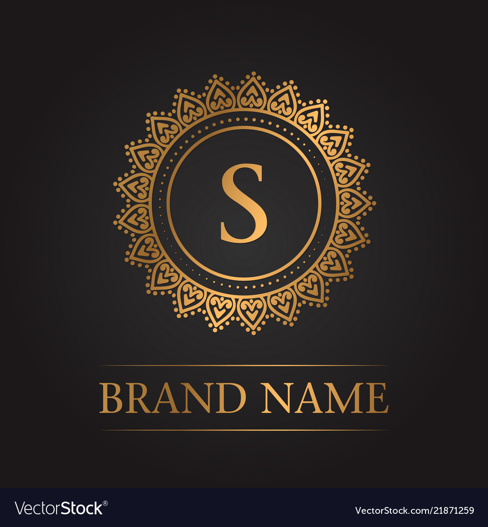 luxury gold template monogram royalty free vector image