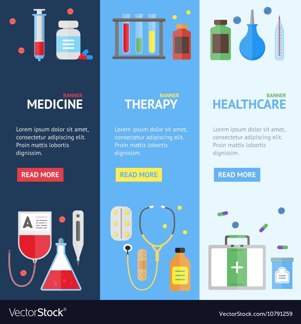 Medical Service Banner Set