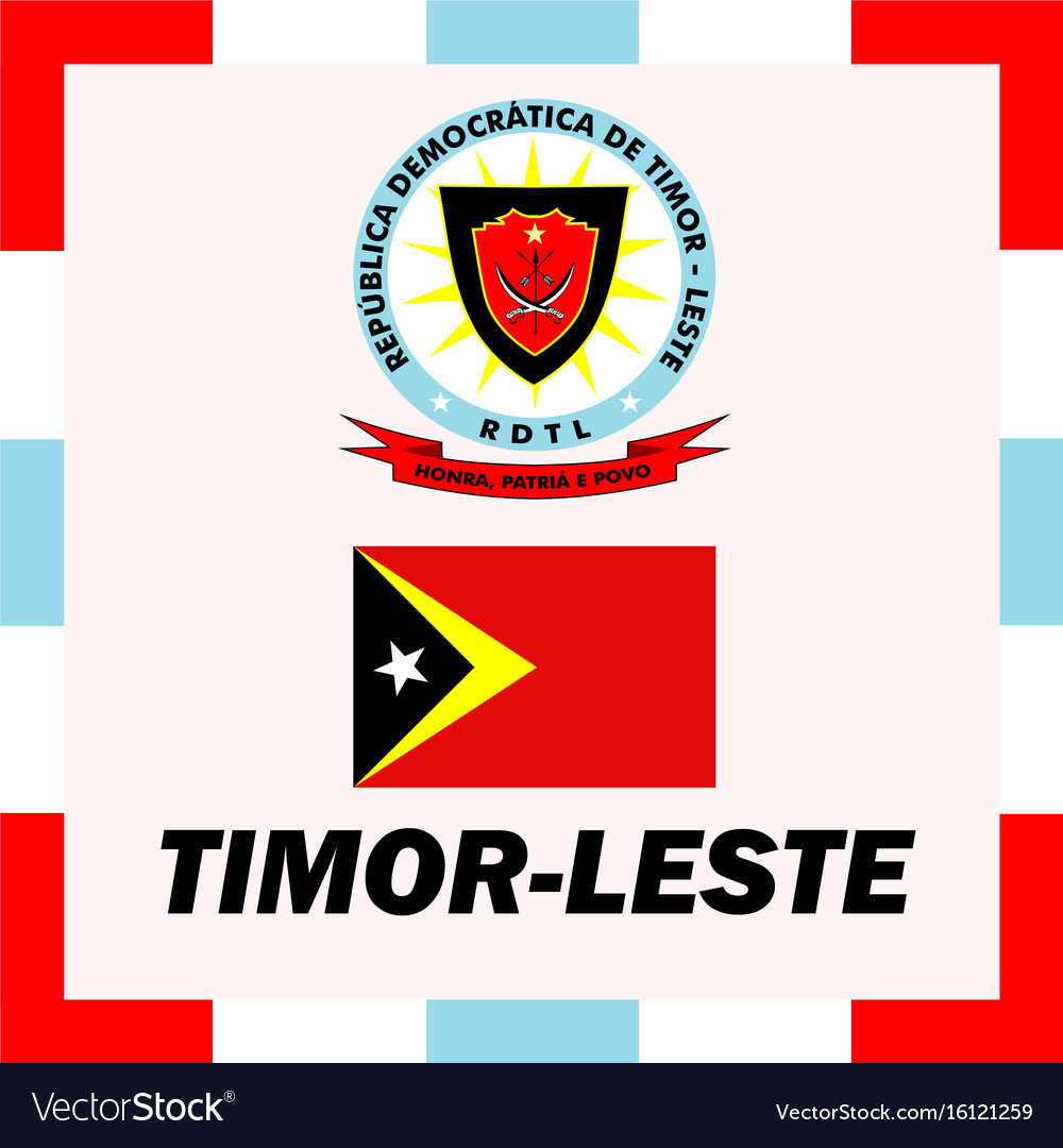 Official ensigns flag and coat of arm of timor