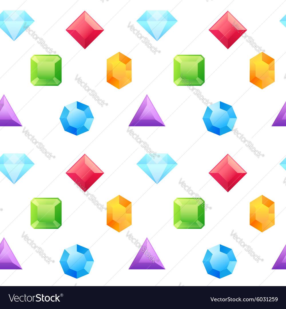 Precious gems seamless pattern