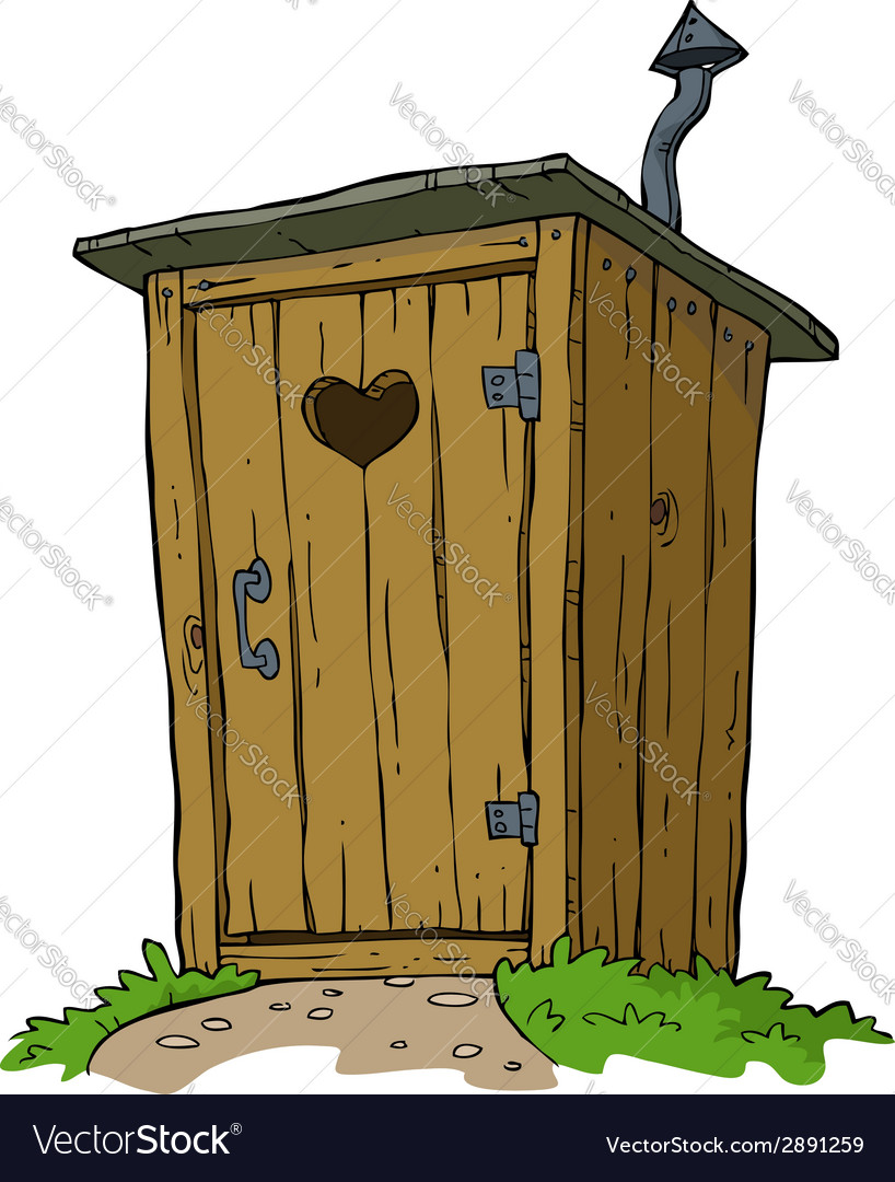 Rural toilet vector image