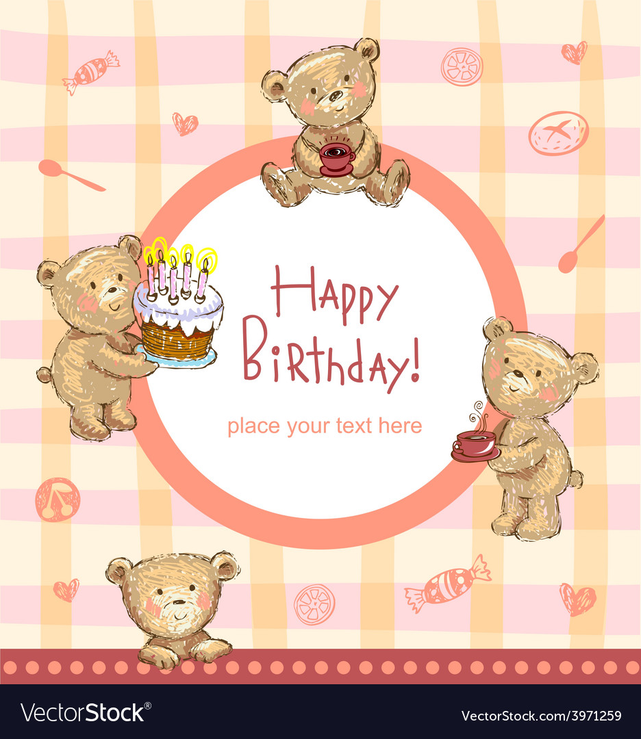 Sweet Birthday Greetings Royalty Free Vector Image