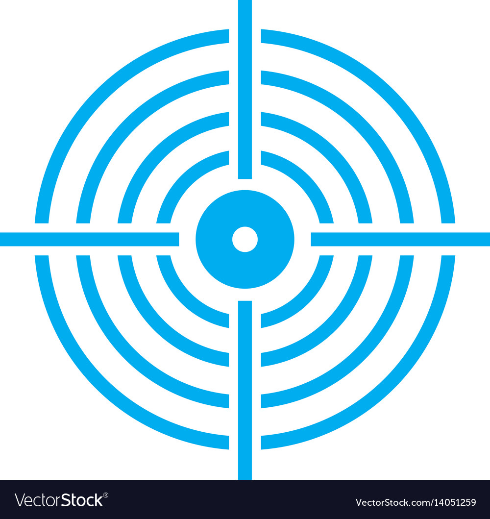 Target icon on white background target sign vector image
