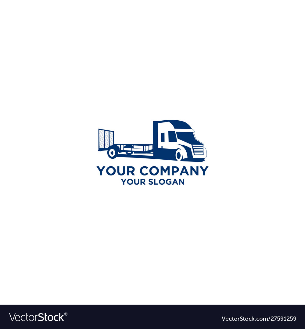 Trucking logistic logo design
