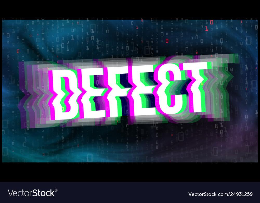 Tv screen defect glitch art banner