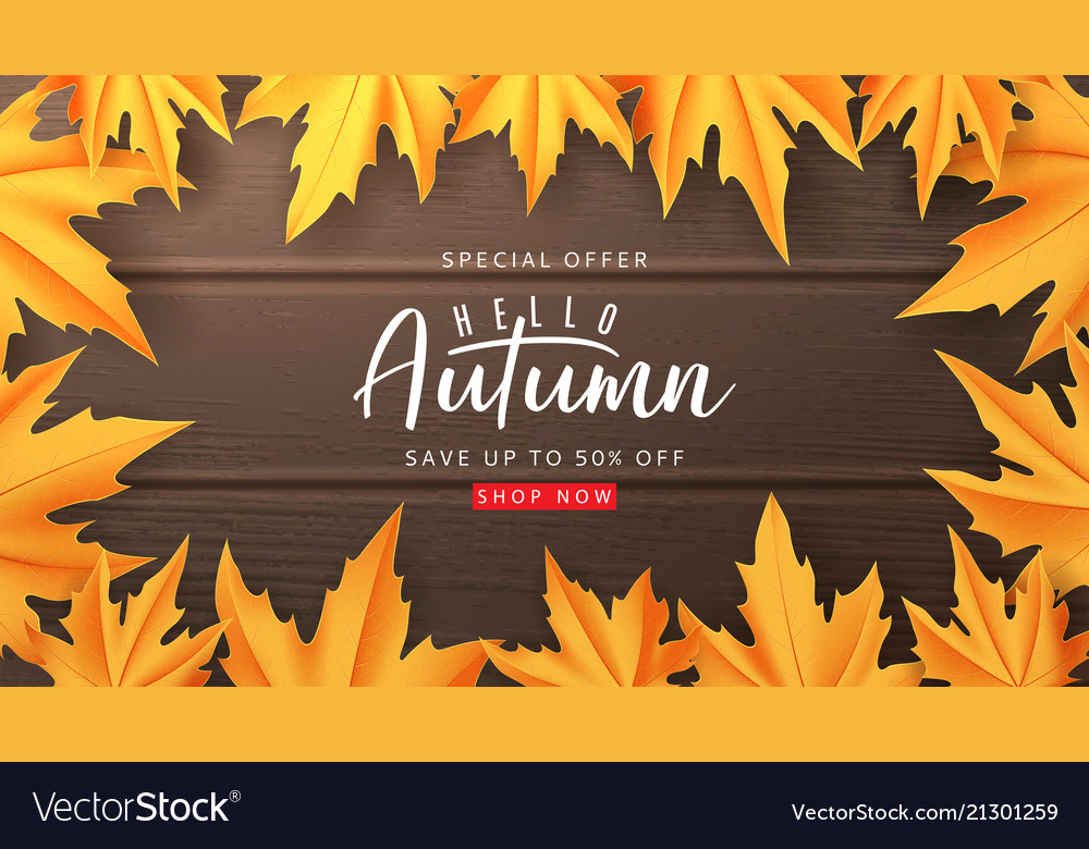 Web banner template for autumn sale