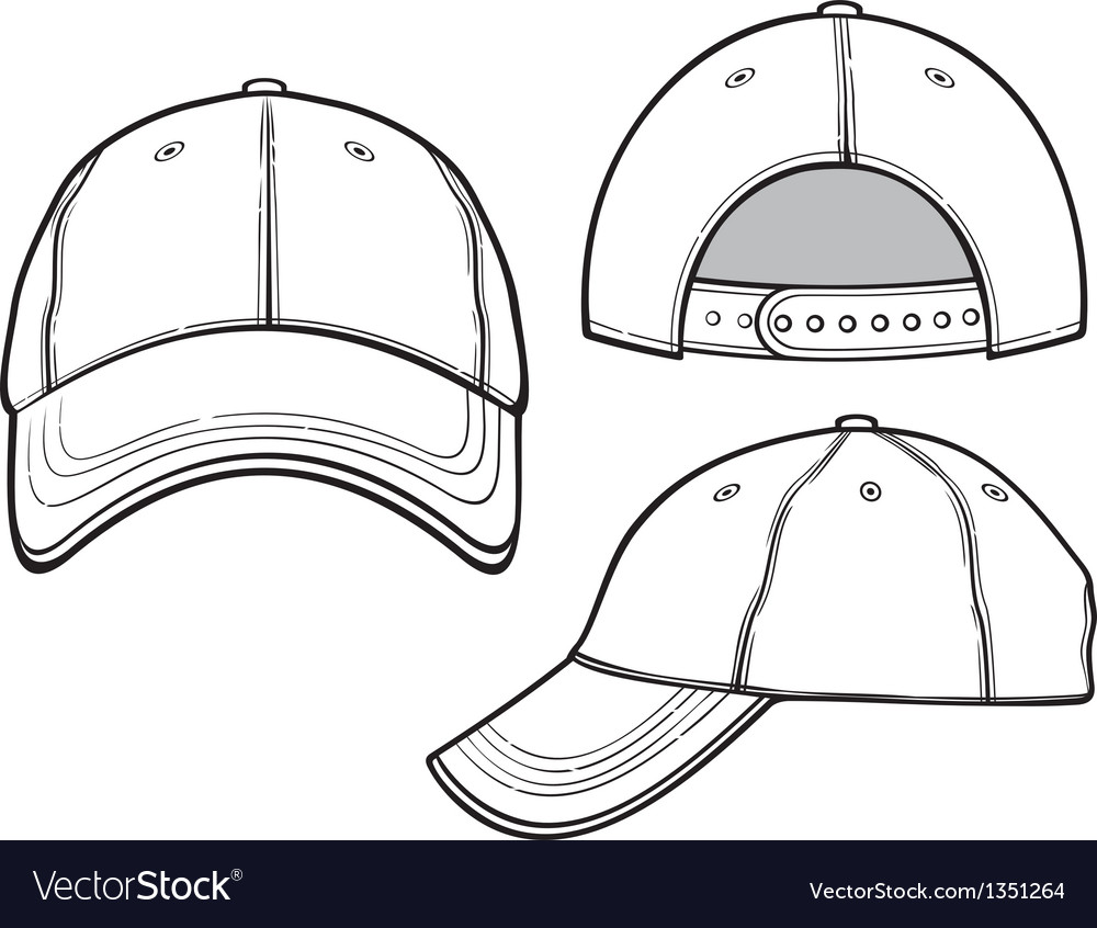 baseball cap royalty free vector image vectorstock rh vectorstock com baseball cap vector art baseball cap vector art