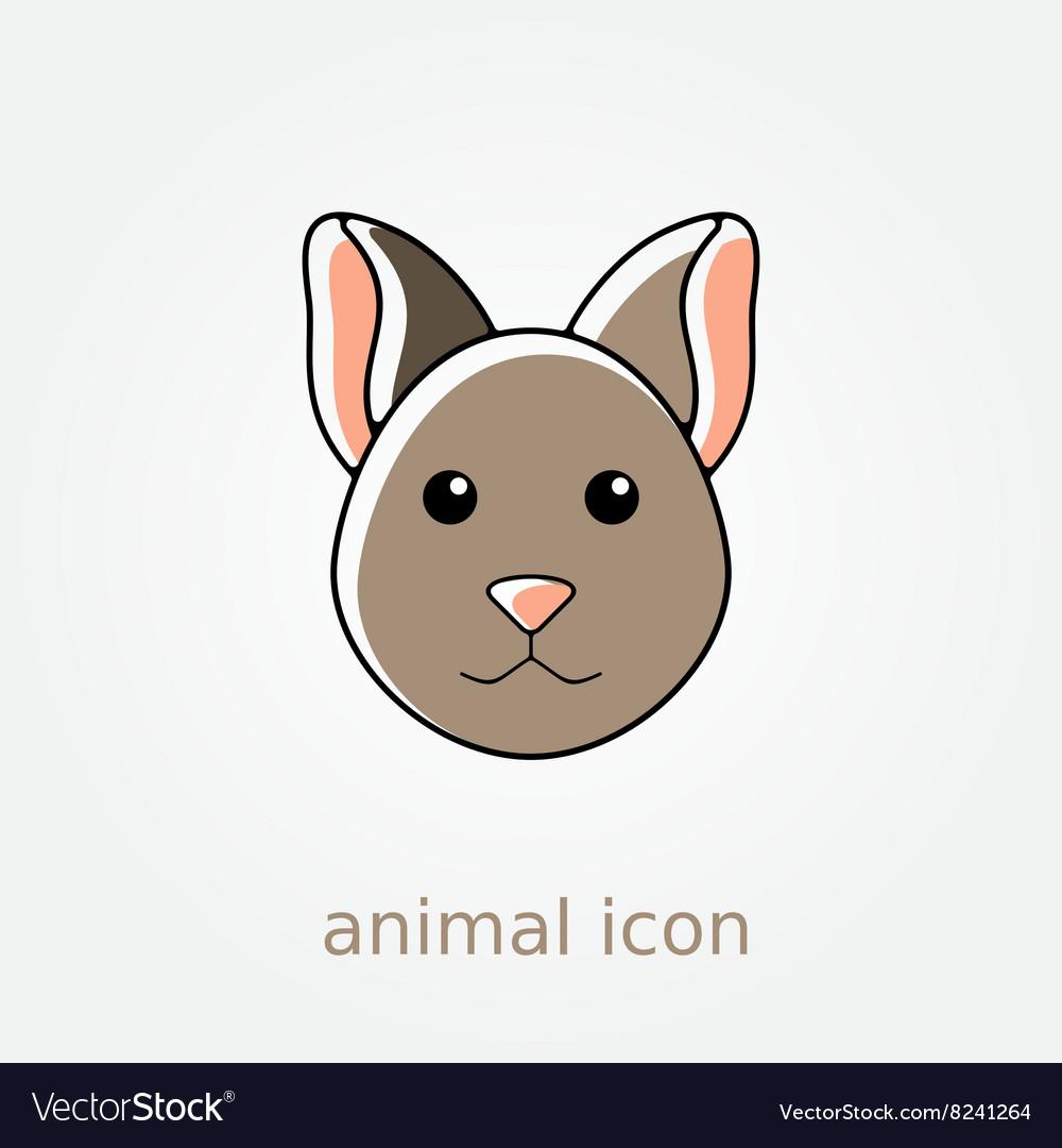 Cat icon Farm animal vector image