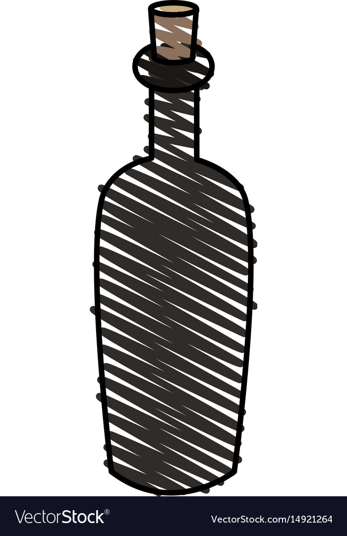 Color crayon stripe cartoon spa bottle with cork