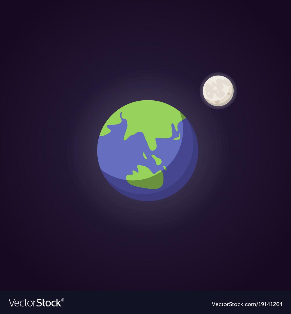 Earth cute blue planet icon cartoon