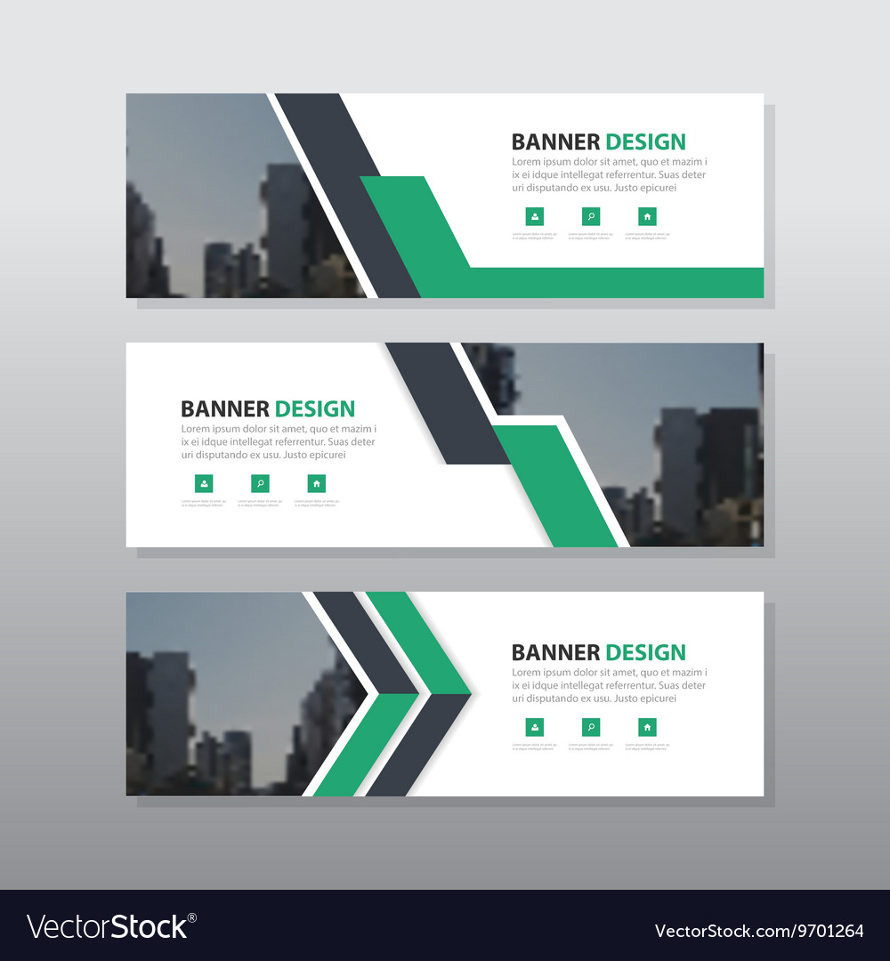 Green triangle abstract corporate business banner