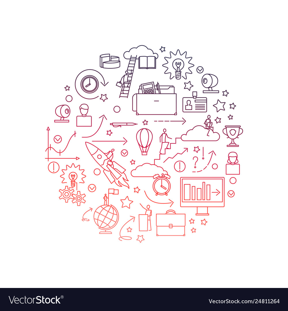 Line science and education concept isolated vector