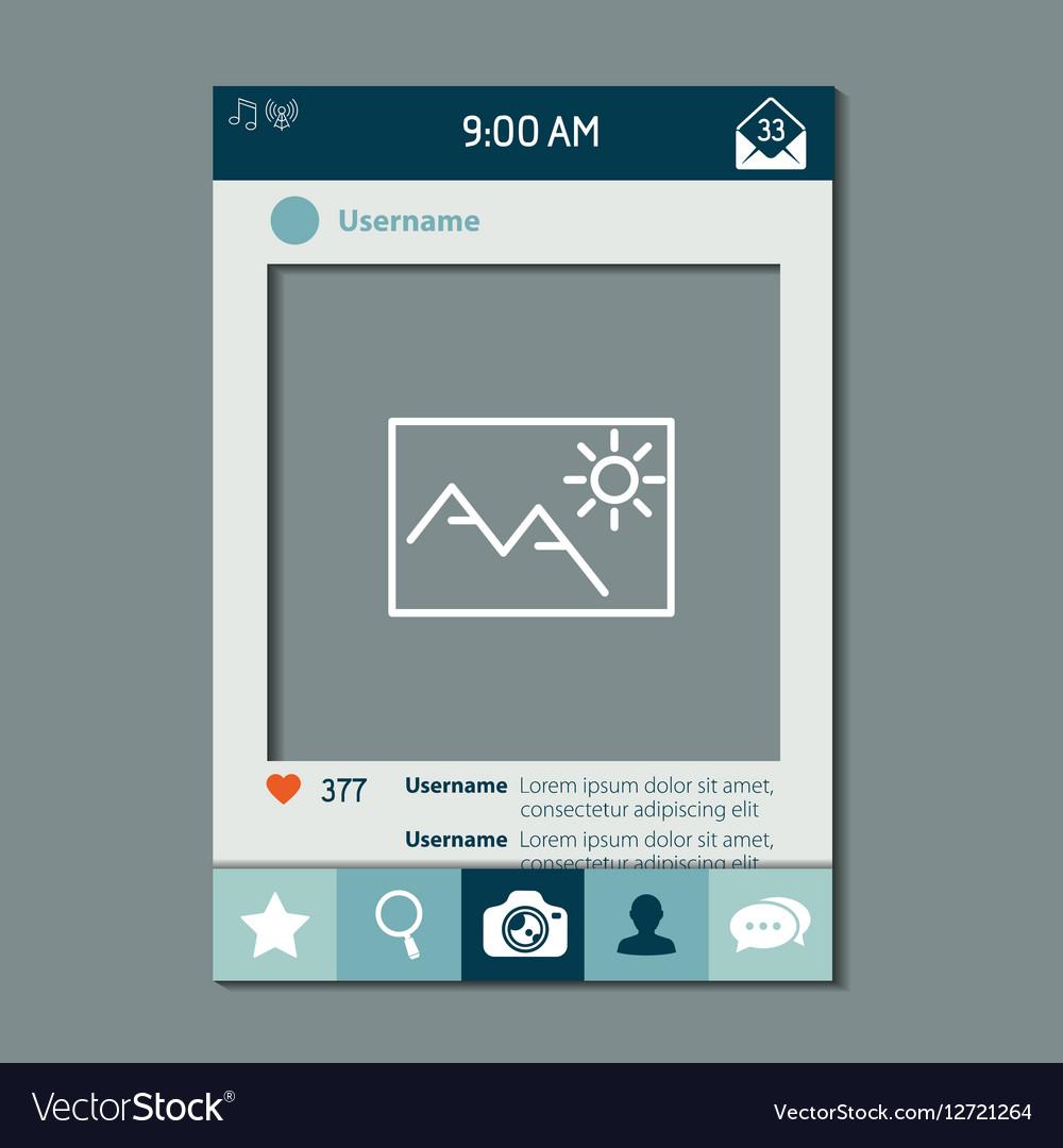 Social network photo frame