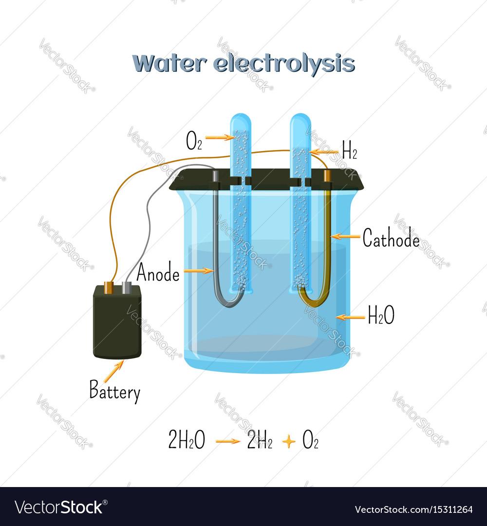 Water electrolysis diagram