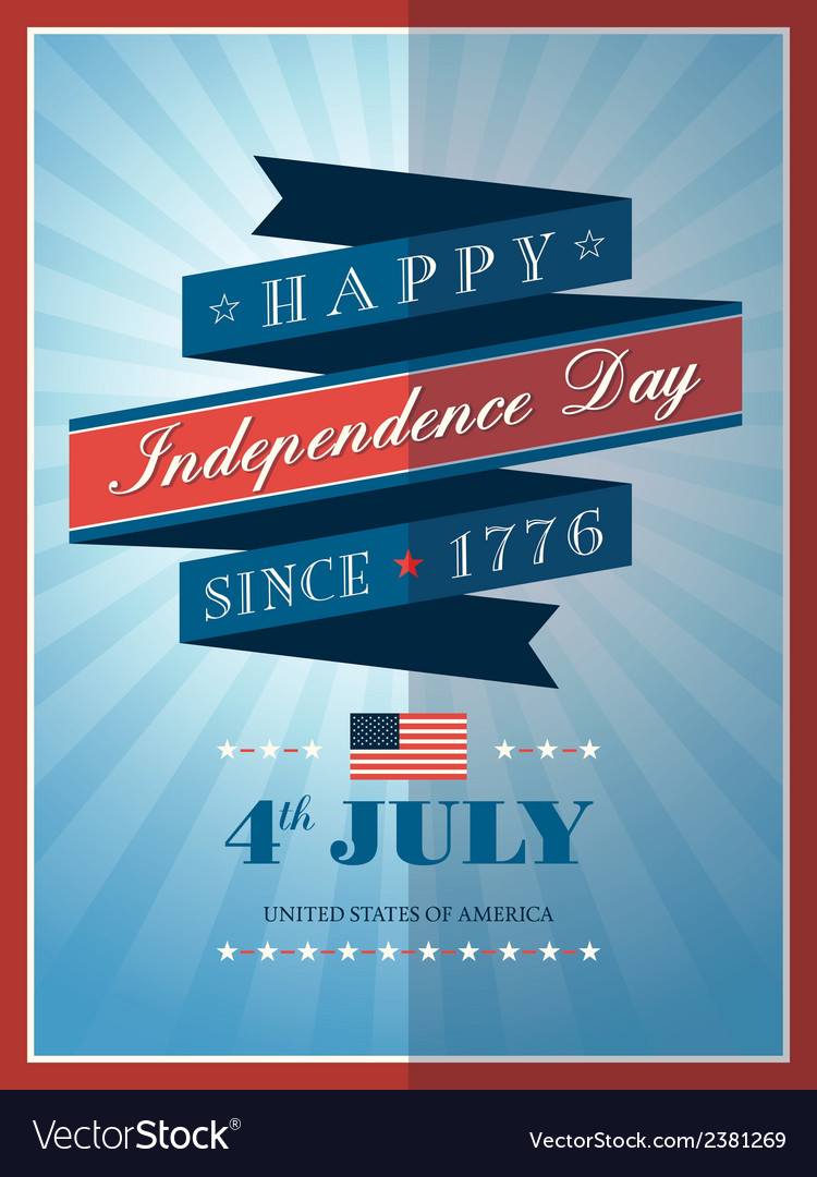 4th july independence day ribbon background
