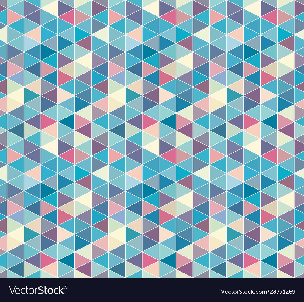 Abstract triangle seamless pattern isometric grid