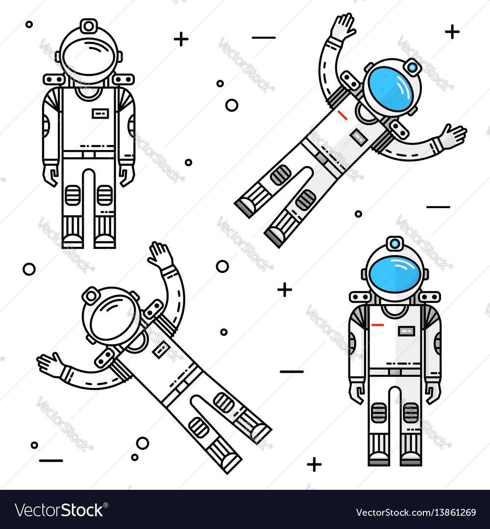 Astronaut in space human mission to mars
