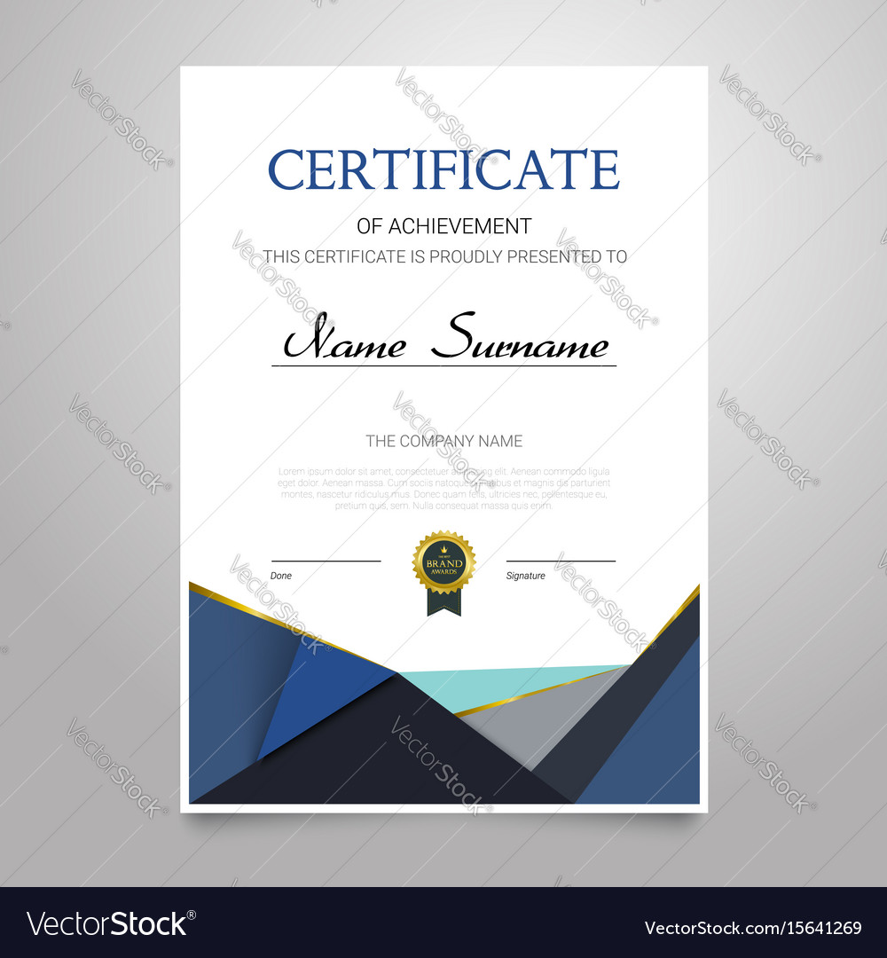 Certificate - vertical elegant document