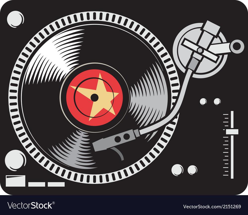 DJ music turntable