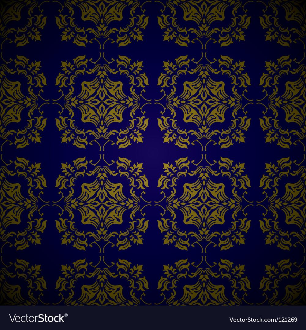 Golden blue link floral