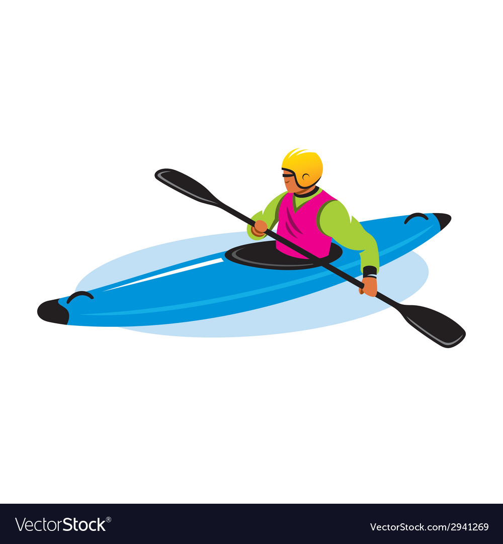 Man in canoe sign