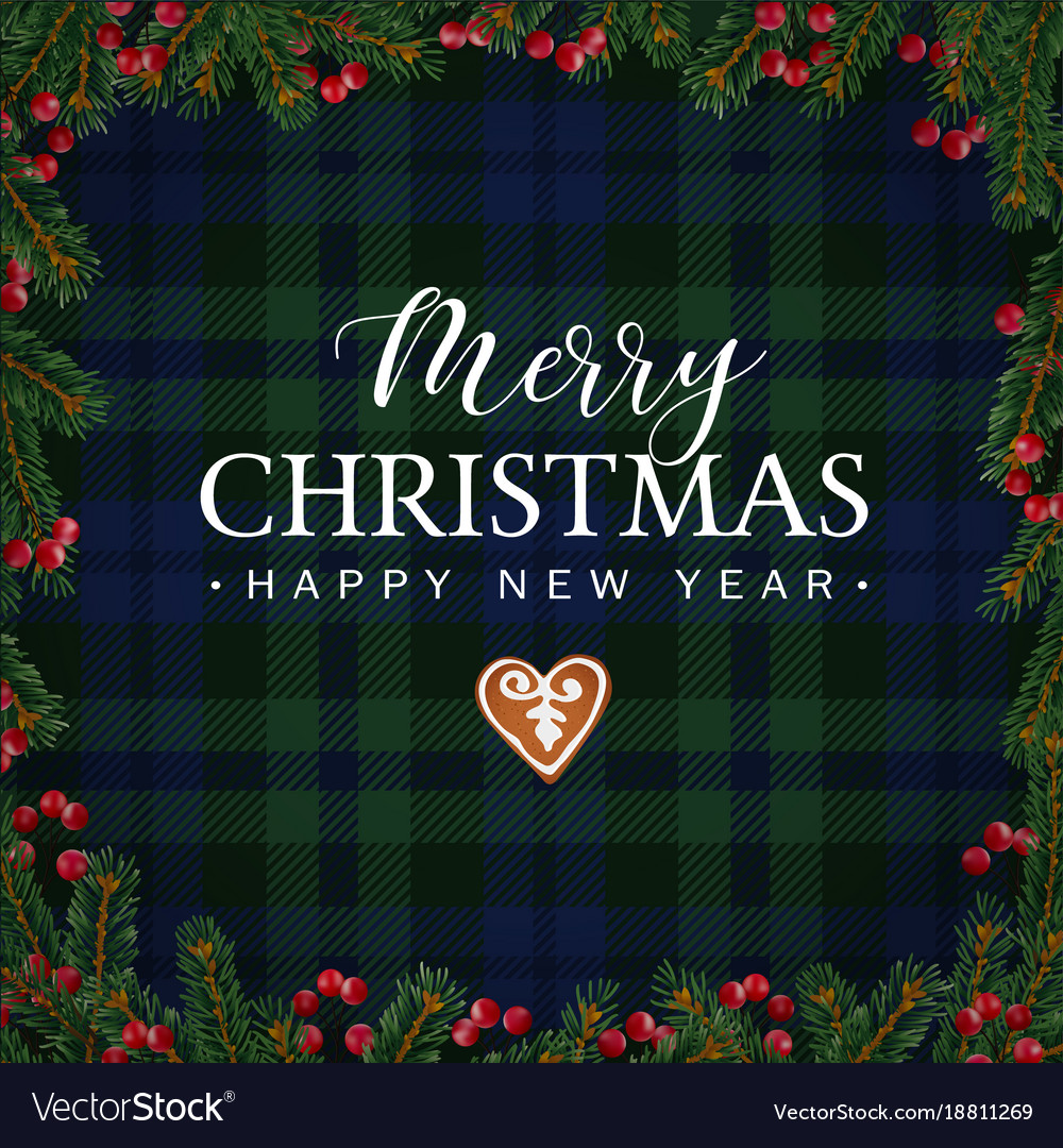 Merry christmas greeting card invitation with