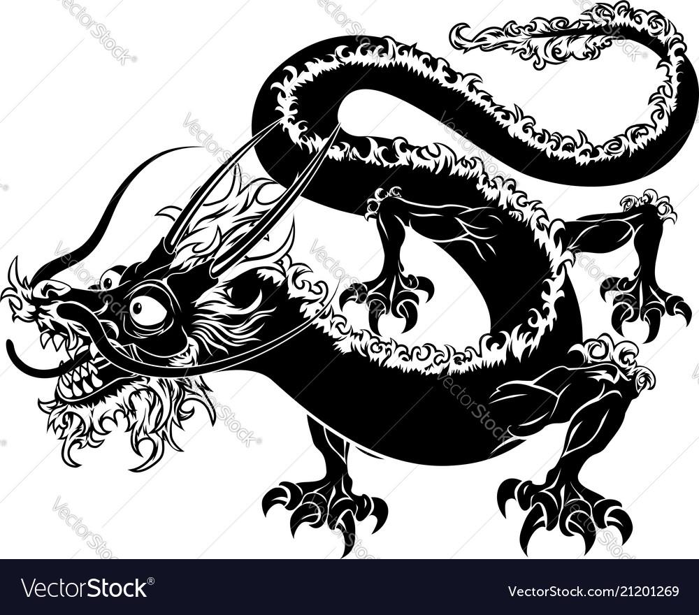 Stylized dragon