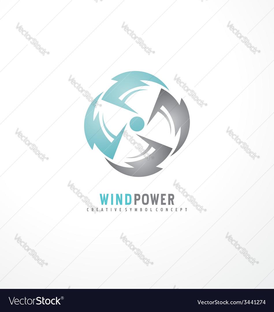 Air conditioning symbol concept vector image