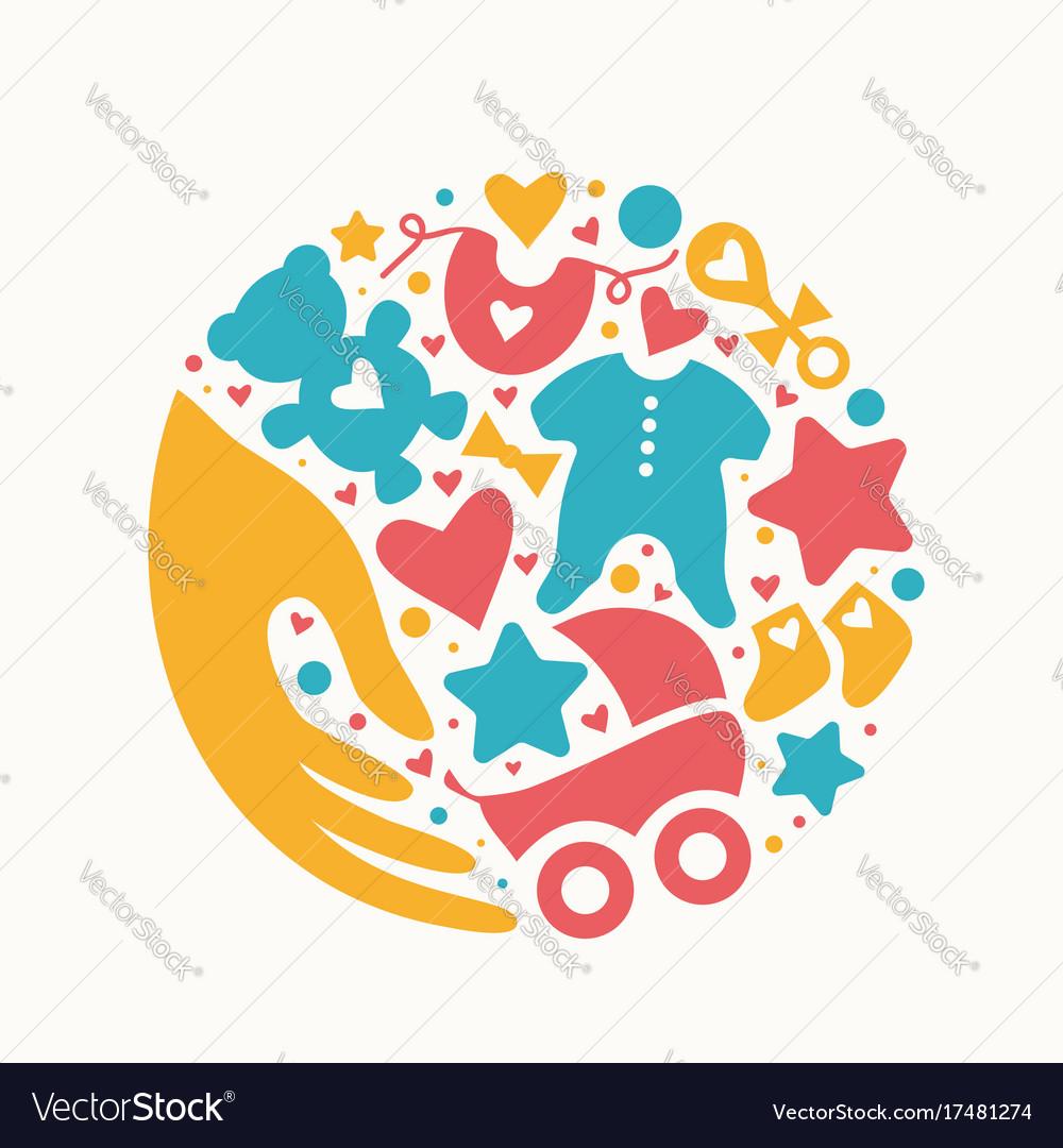 baby shop logo royalty free vector image