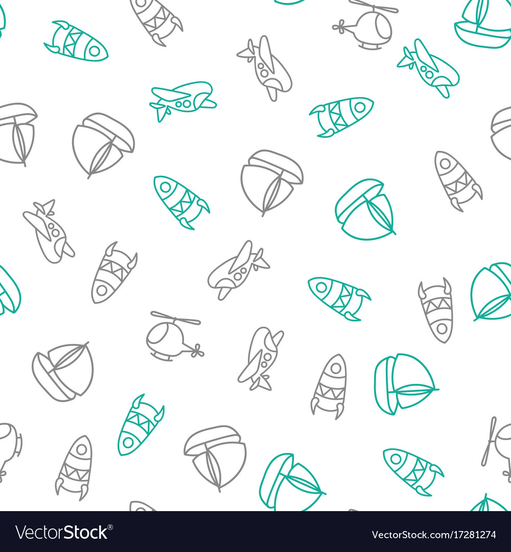 Background for cute little boys transportation vector image
