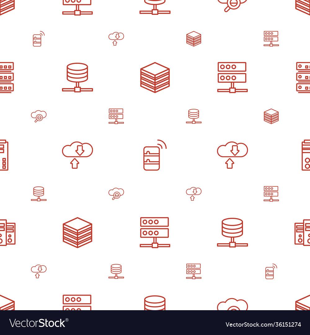 Database icons pattern seamless white background