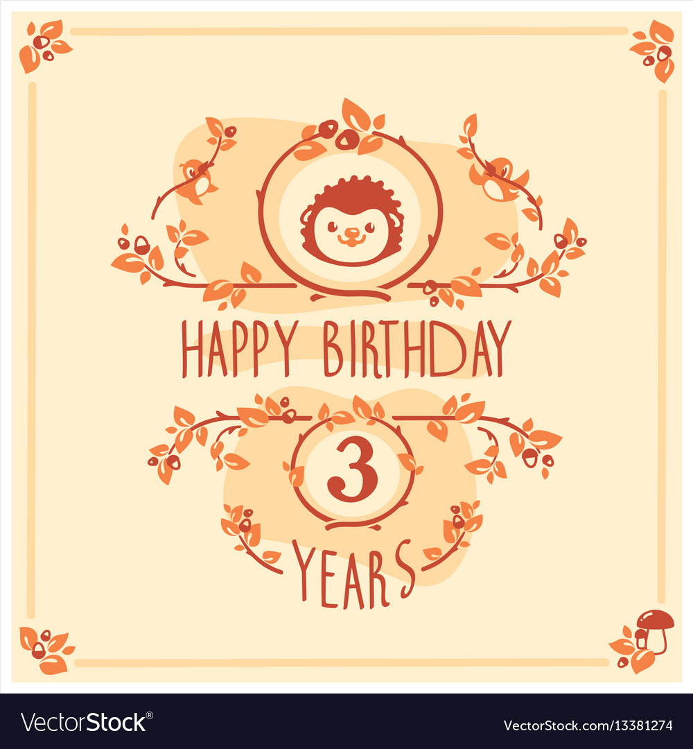 Happy birthday greeting card with cute
