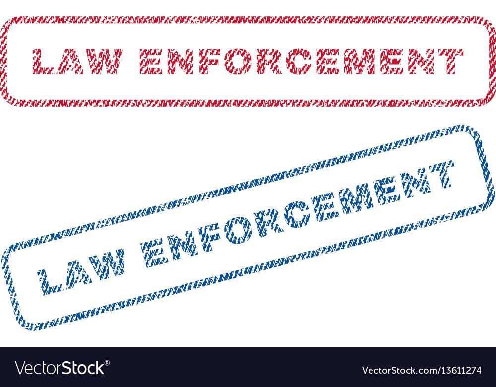 Law enforcement textile stamps