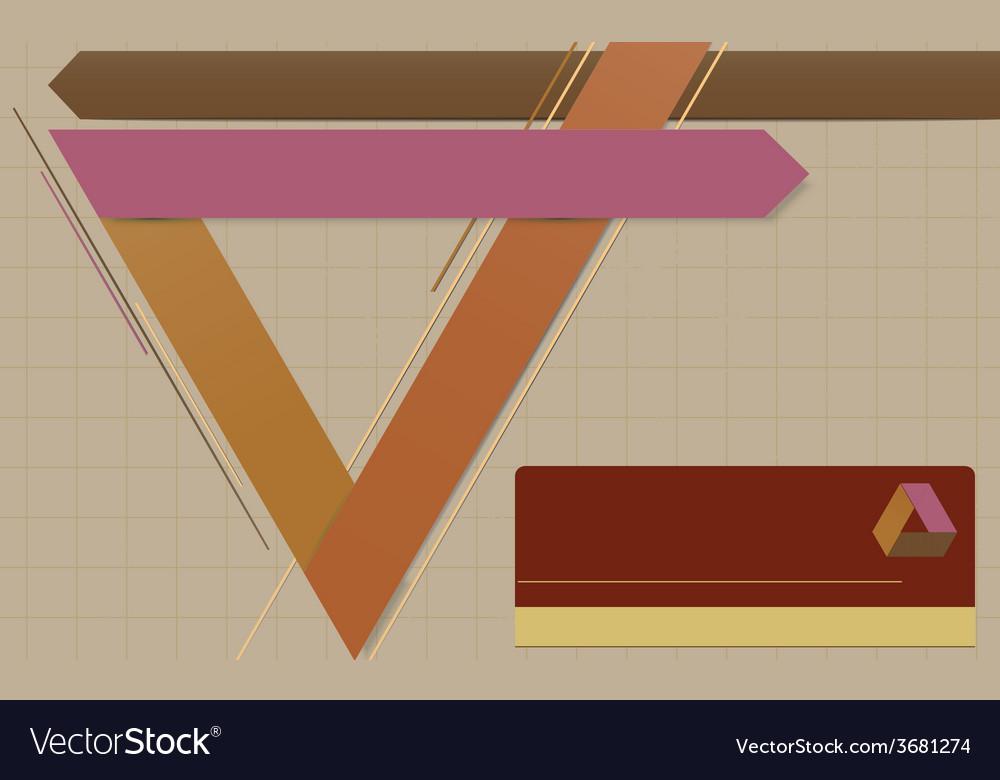 Modern geometric template