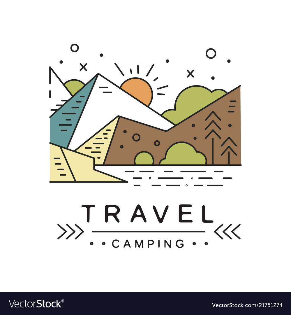 Travel camping logo design adventure travel