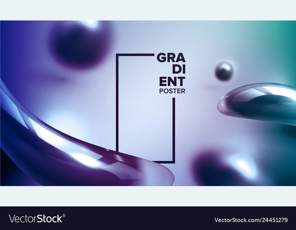 Abstract liquid fluid background vibrant