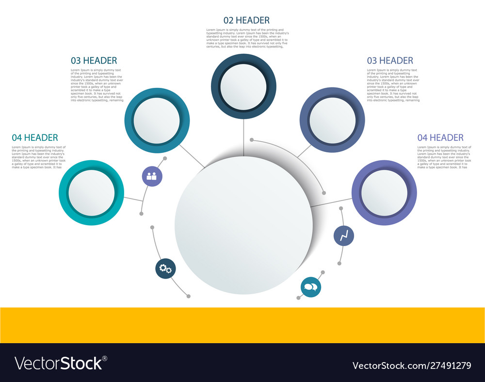 Abstract round infographics color circle diagram
