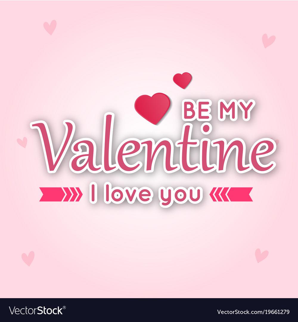Be my valentine i love you pink ribbon pink blackg
