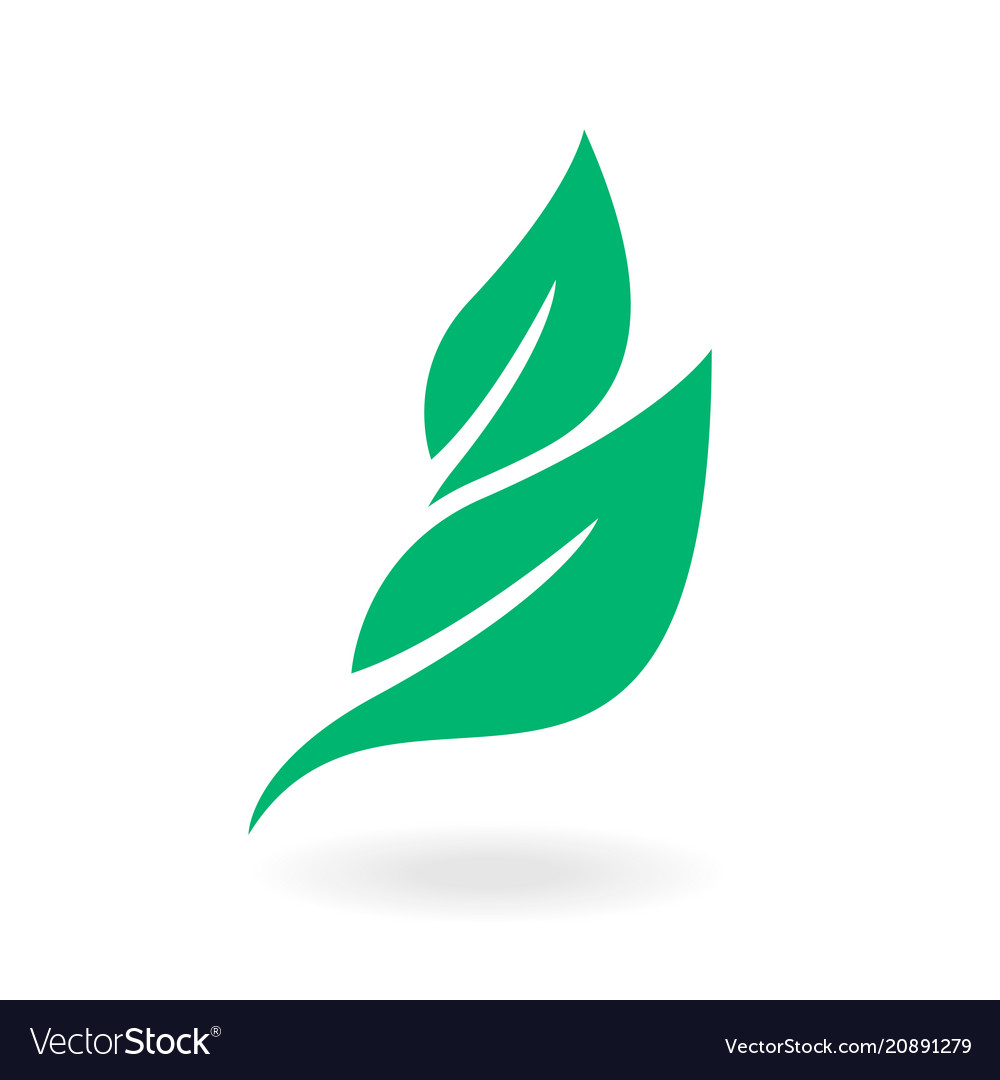 Green labels concept with leaves