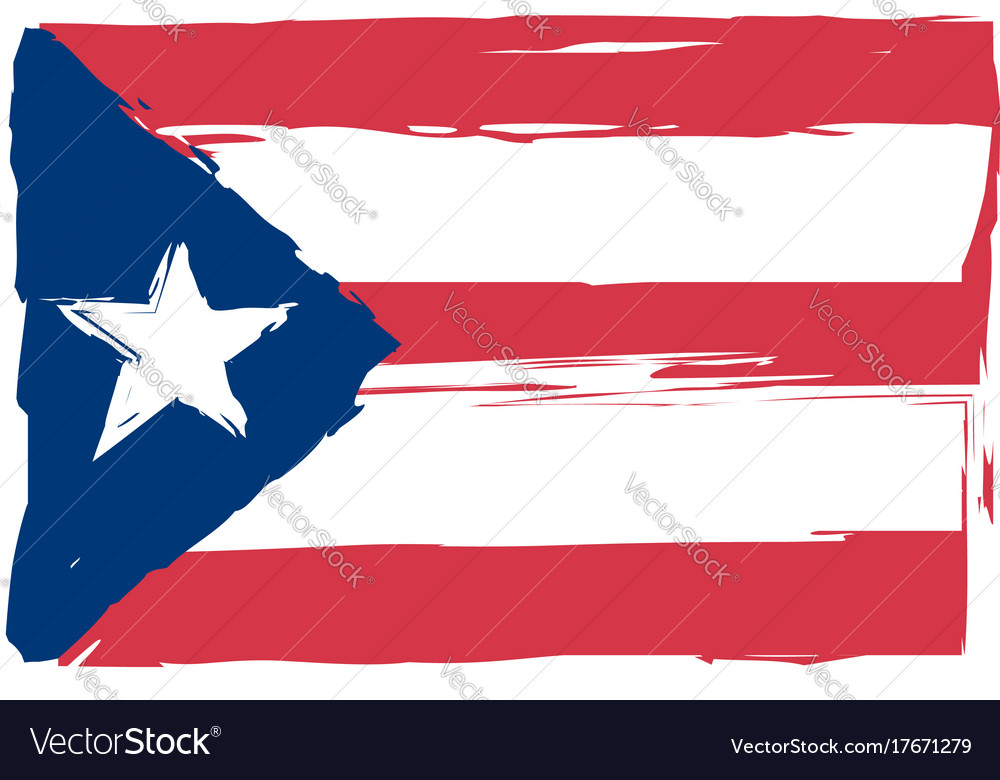 Grunge Puerto Rico Flag Or Banner Royalty Free Vector Image