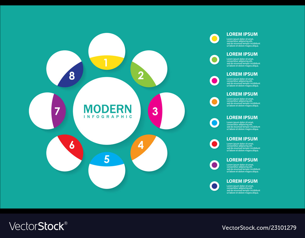 Modern infographic for diagram