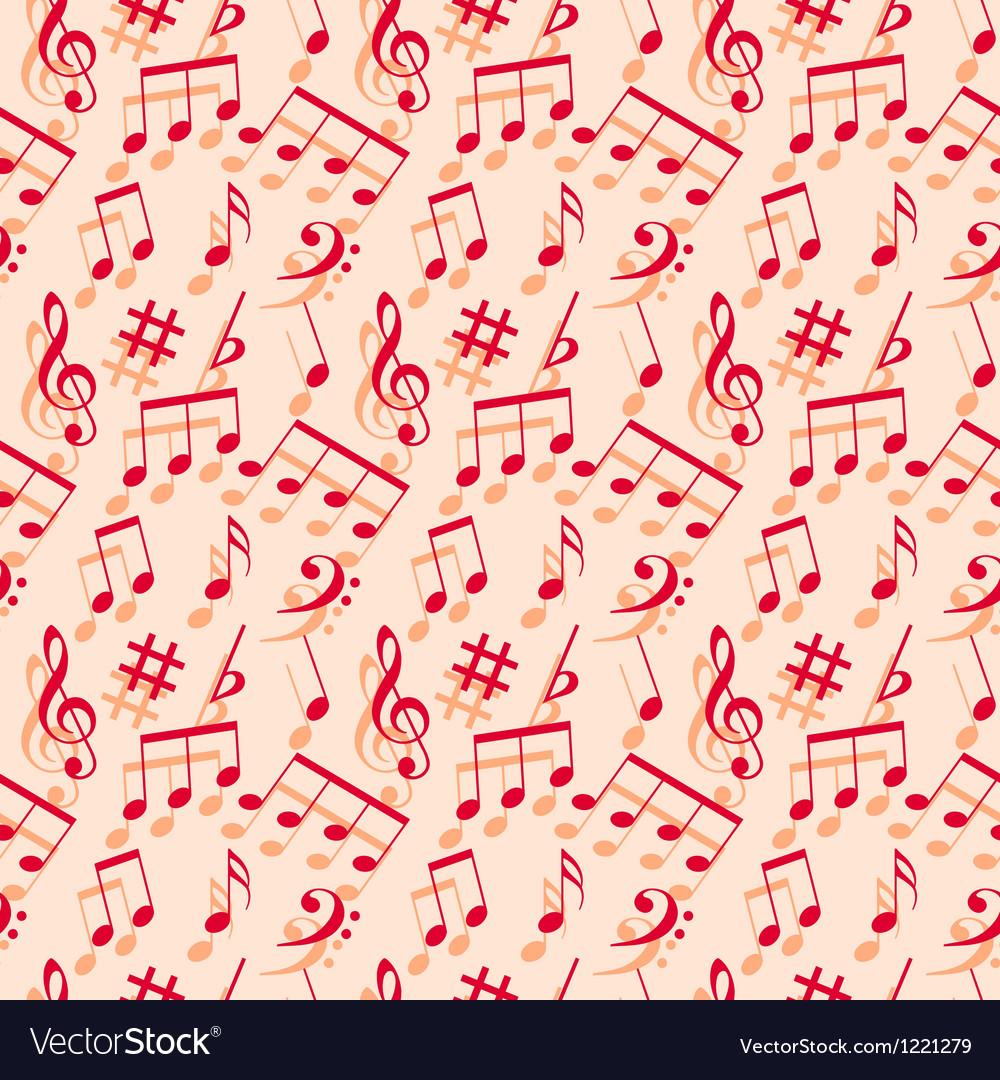 Music Notes Seamless Wallpaper Royalty Free Vector Image