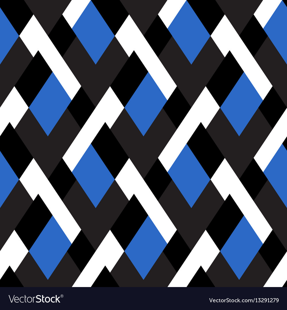 Pattern with stripe chevron geometric shapes