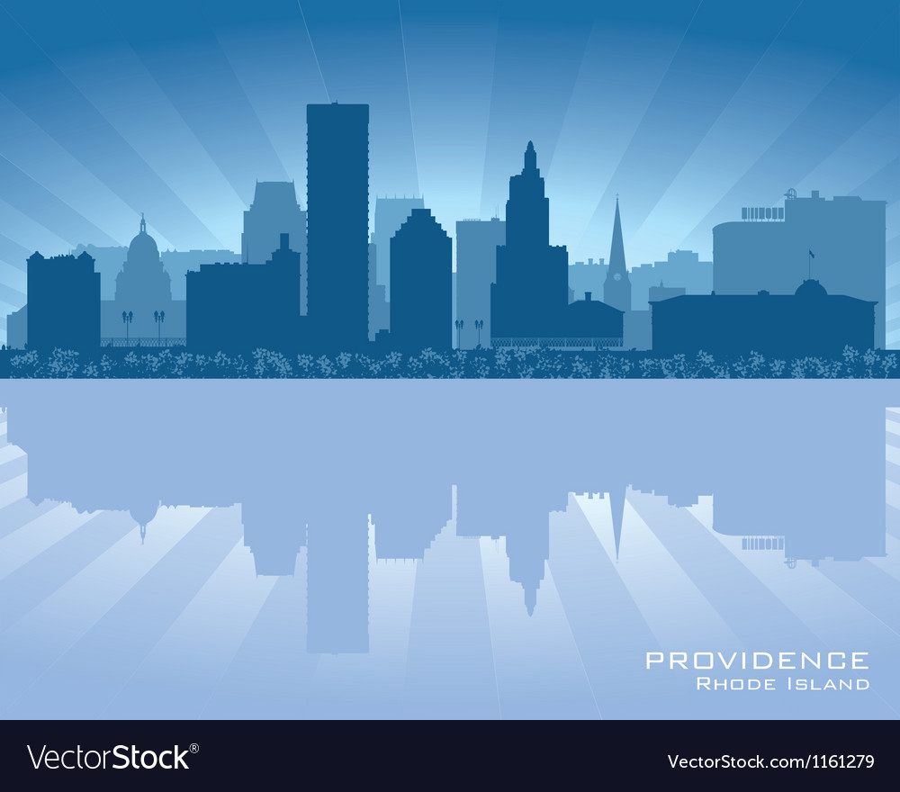 Providence Rhode Island skyline city silhouette vector image