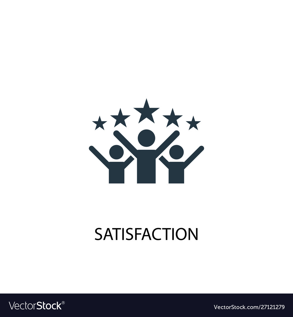 Satisfaction icon simple element