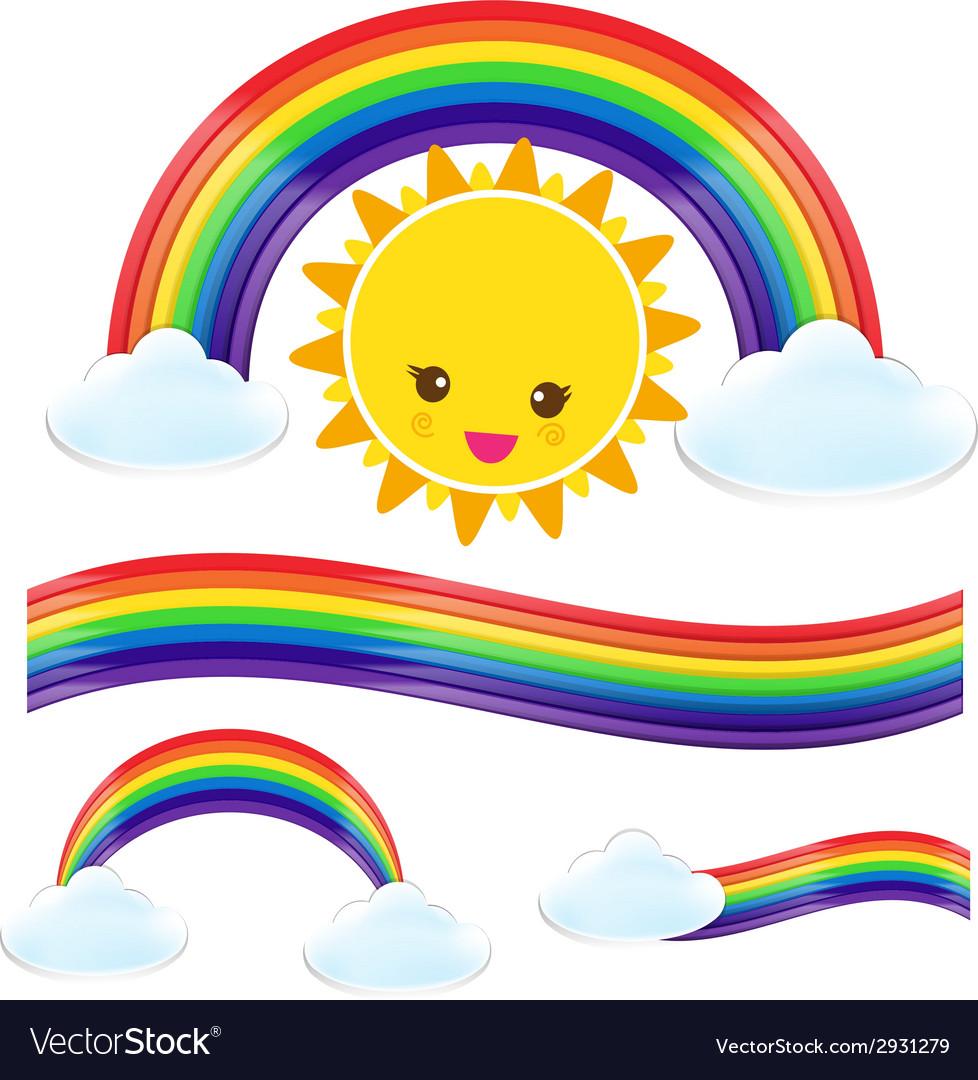 Sun rain bow cloud 002