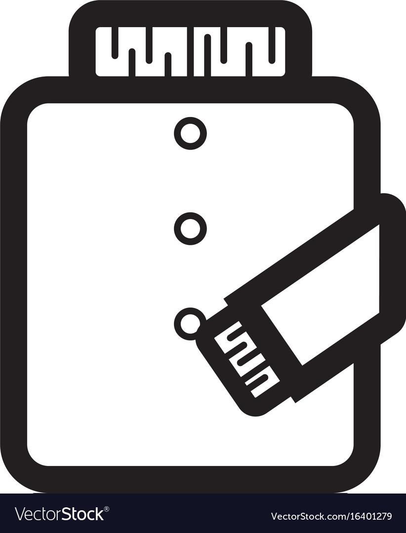 Thin line jacket icon vector image