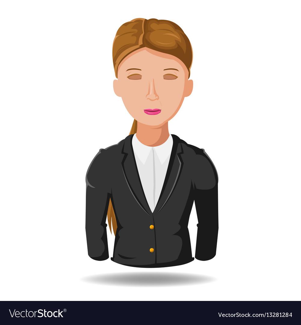 Business woman working symbol cartoon