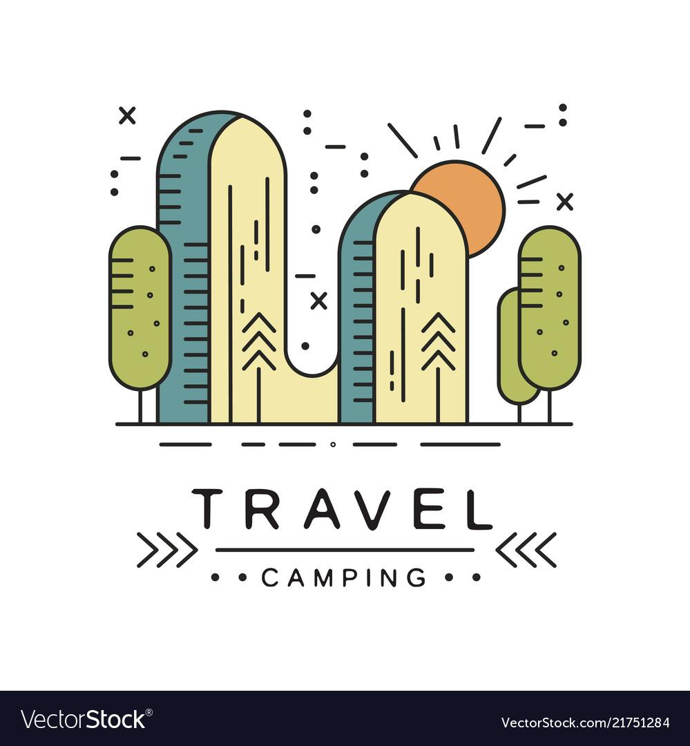 Camping travel logo design adventure camping